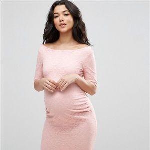 ASOS Maternity Bodycon Lace Bardot Dress